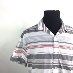 EXPRESS Casual Striped Button Down Shirt